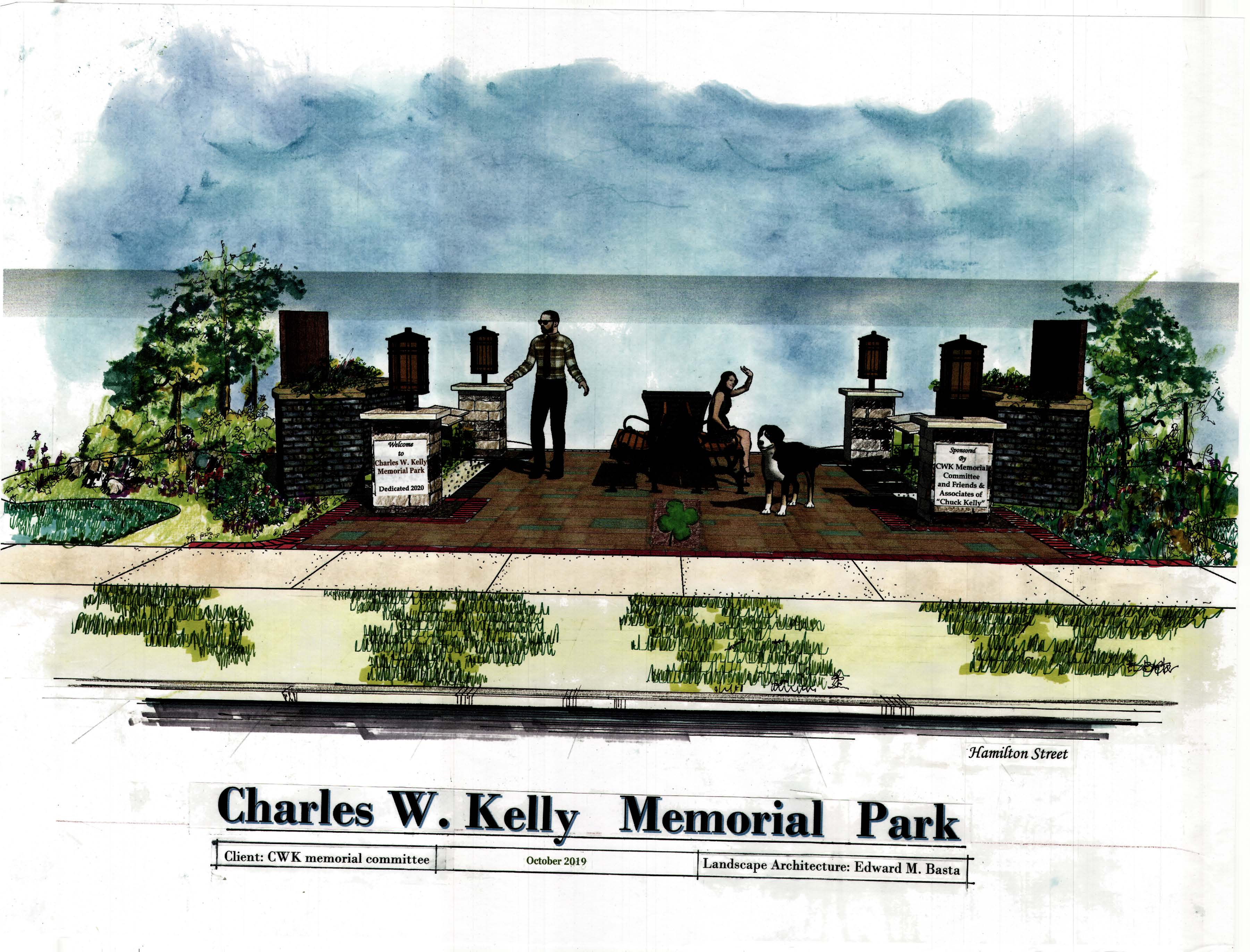 Charles kelly Memorial Park Rendering