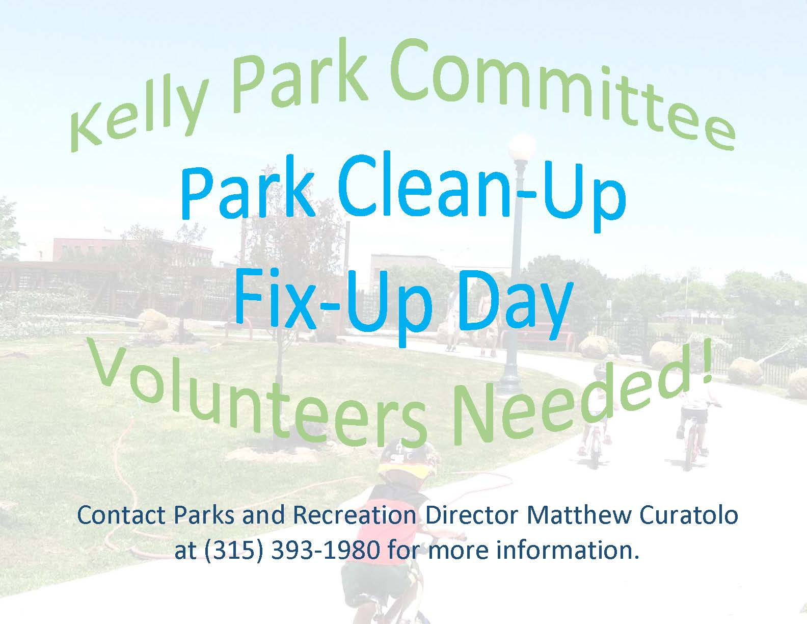 Park Clean Up Day Flyer